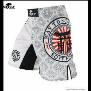 SOTF White Japanese Style Print MMA Sorts Medium